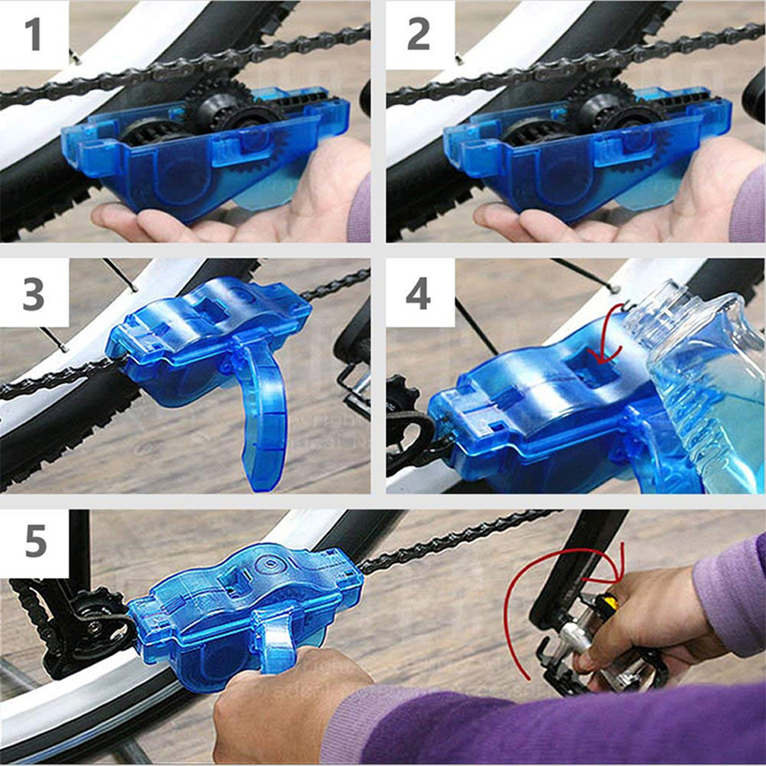 Bicycle Chain Cleaner Brush Set