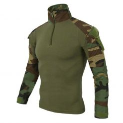 EDSY Long Sleeve Tactical Shirt Green Camouflage 1