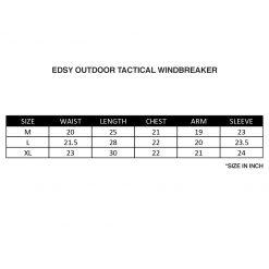 EDSY Outdoor Tactical Windbreaker SZ