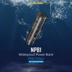 QC3.0 Output NITECORE NPB1 5000mAh IP68 Rated Waterproof Power Bank / Mobile Charger Certified by CE & FCC
