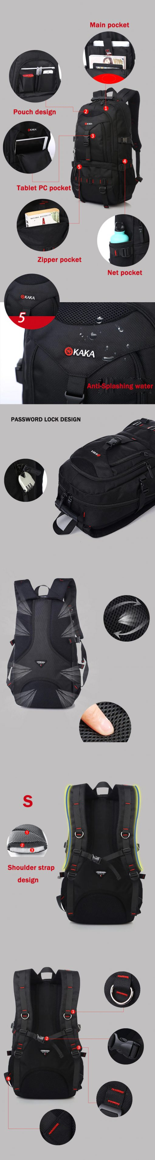 KAKA 35L Water Resistance Backpack 4