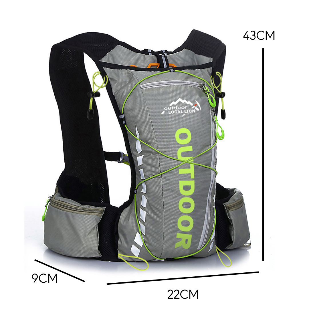 Local Lion Outdoor 10L Hydration Backpack, hydration bag, running bag, marathon running bag, bag running, hiking bag