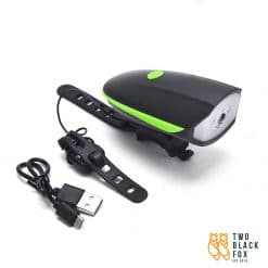 TBF 2 in 1 Bicycle Speaker Lamp with USB Charger Green