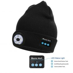 TBF Bluetooth Knitted Hat with LED Light 1