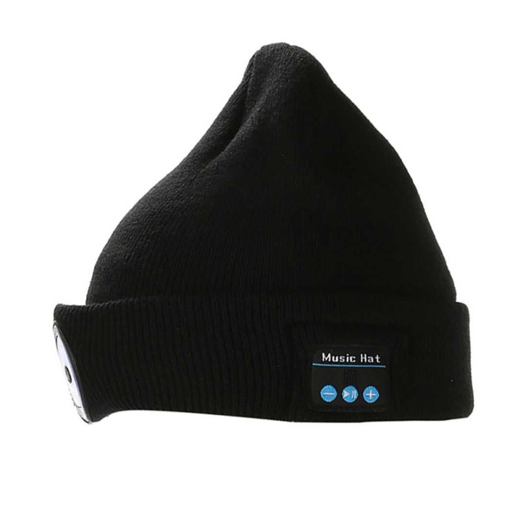 TBF Bluetooth Knitted Hat with LED Light ; Built with the easy-access USB charging port ; Bluetooth wireless connection for music and calls