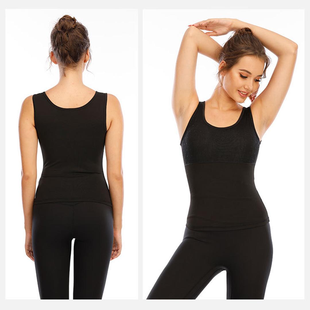 TBF Female Sauna Vest, baju, sleeveless, comfortable, perform, outdoor, women, exercise