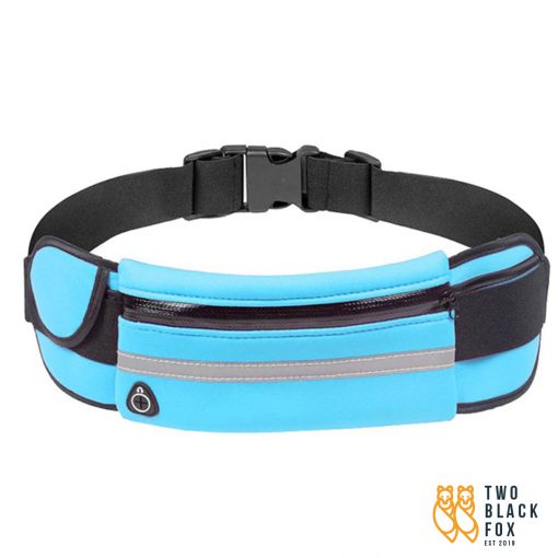 TBF Multipocket Running Belt Blue