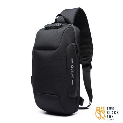 TBF OZUKO Anti Theft Sling Bag Black