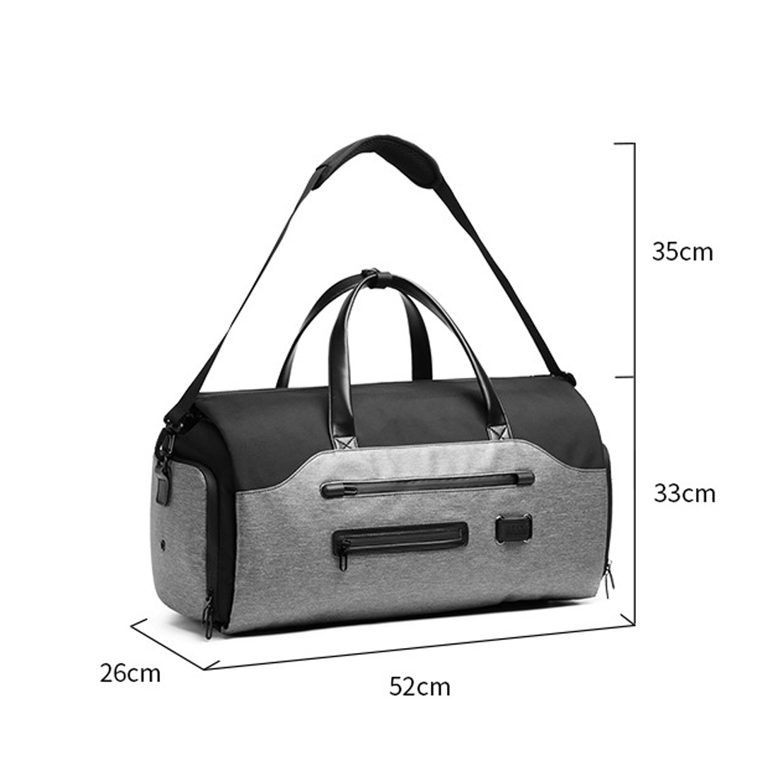 TBF OZUKO Multifunction Travel Bag, backpack, bagpack, luggae, suitcase, briefcase, duffel bag, dufle, sling, shoulder, beg, galas, sandang, outdoor, water-resistant, multi function, multi purpose, many pockets, poket, secure zip, strong, durable, adjustable buckle and strap, tali