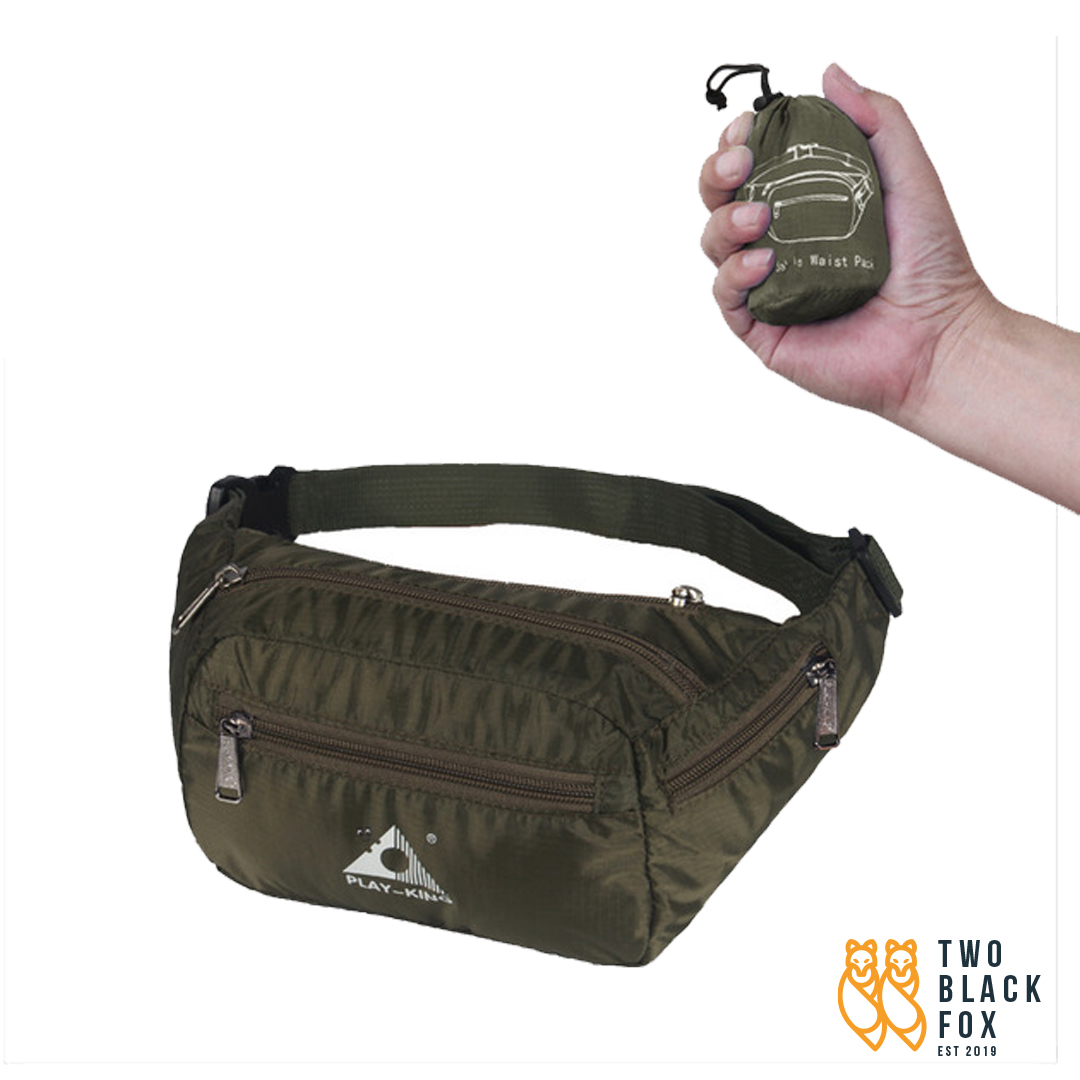 TBF Outdoor Foldable Waist Pouch ; Foldable into handy small size and light-weighted of 70g
