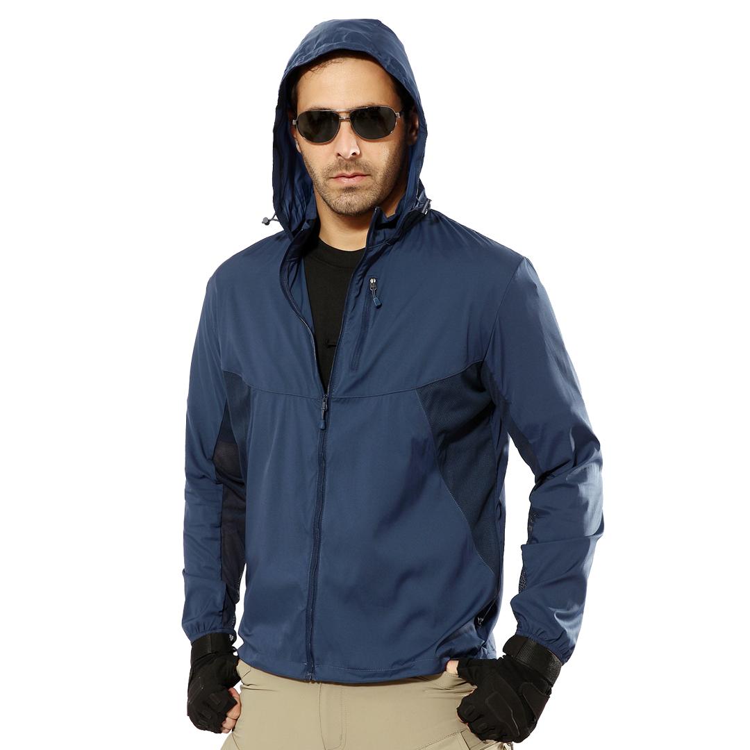 EDSY Outdoor Tactical Windbreaker, windproof, baju sejuk, single layer, hiking, camping, hoodie, water resistant