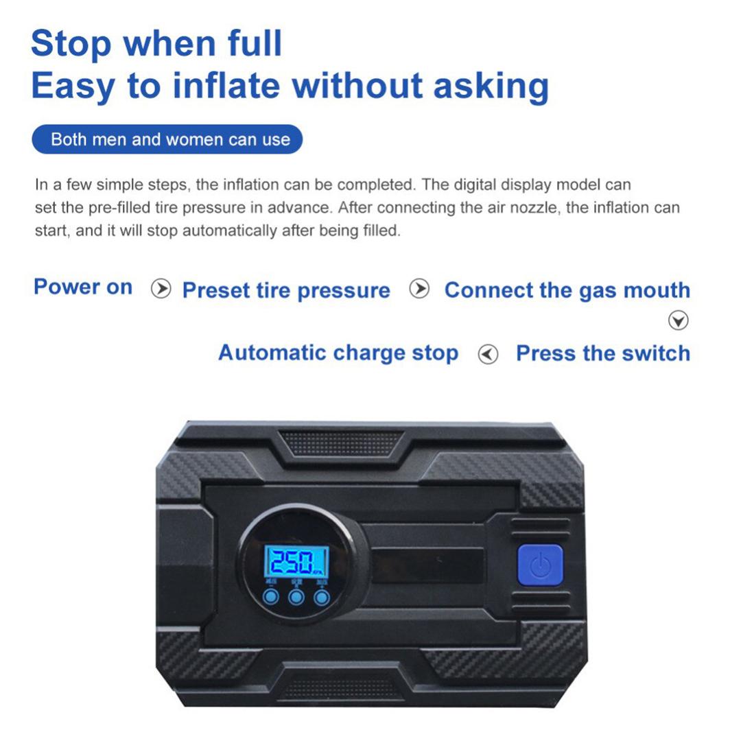 TBF Portable 12V Air Pump, diffusion pump, condensation pump, inflater, inflator, ion pump, pressure, moto, hiking, outdoor, pam, digital