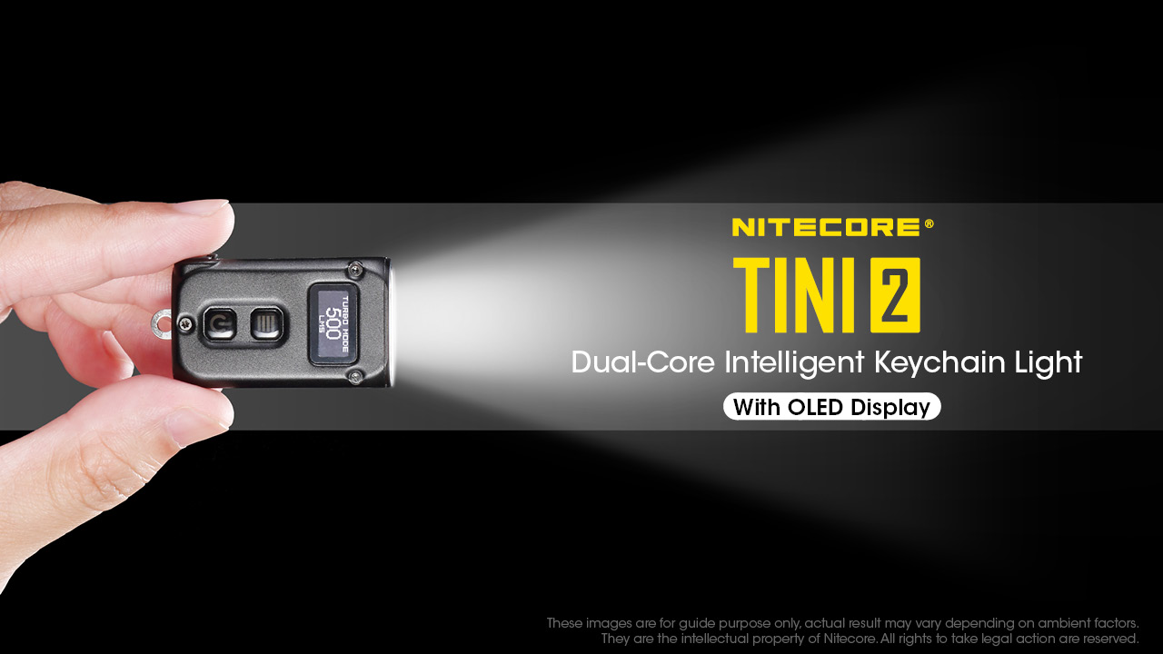 NITECORE TINI 2 USB Rechargeable Keychain Flashlight, torchlight, hiking, camping, double light, cahaya, lampu
