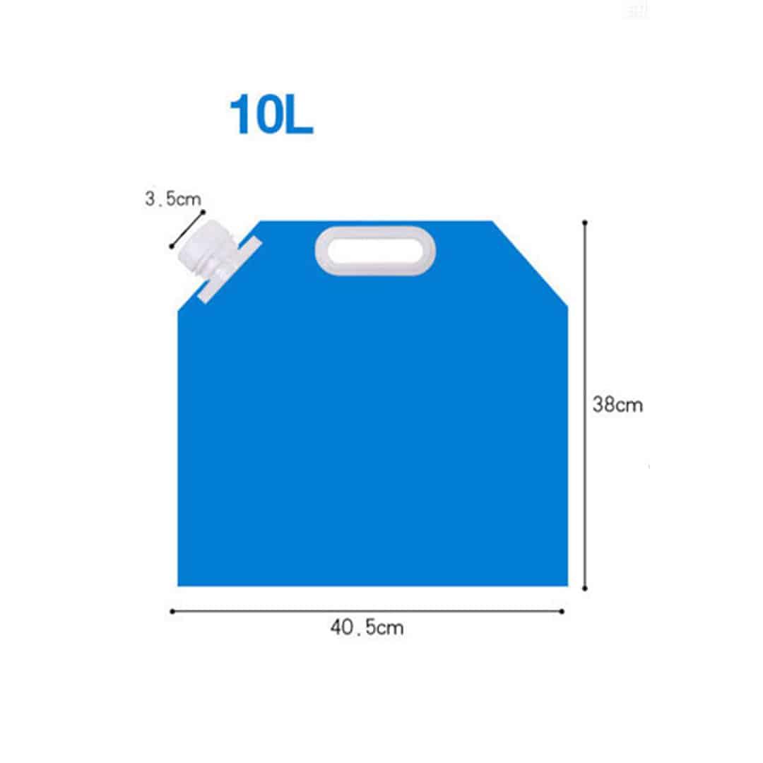 10L Foldable Water Bag, air beg, container, tupperware, foldable, plastic, water resistant, bekas, cebuk, muncung