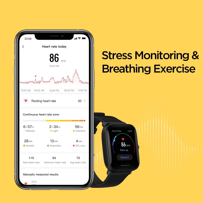 AMAZFIT Bip U Pro Smartwatch, jamtangan, water resistance, professional, swimming, berenang, camping, running, cycling, hear rate, sleep, tracking, gps