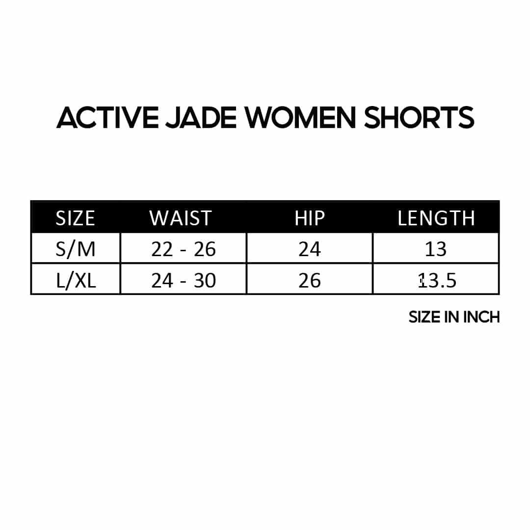 Active Jade Women Shorts, seluar pendek, short pant, yoga, inner, outer, boxer, spendar, spendex, elastic,