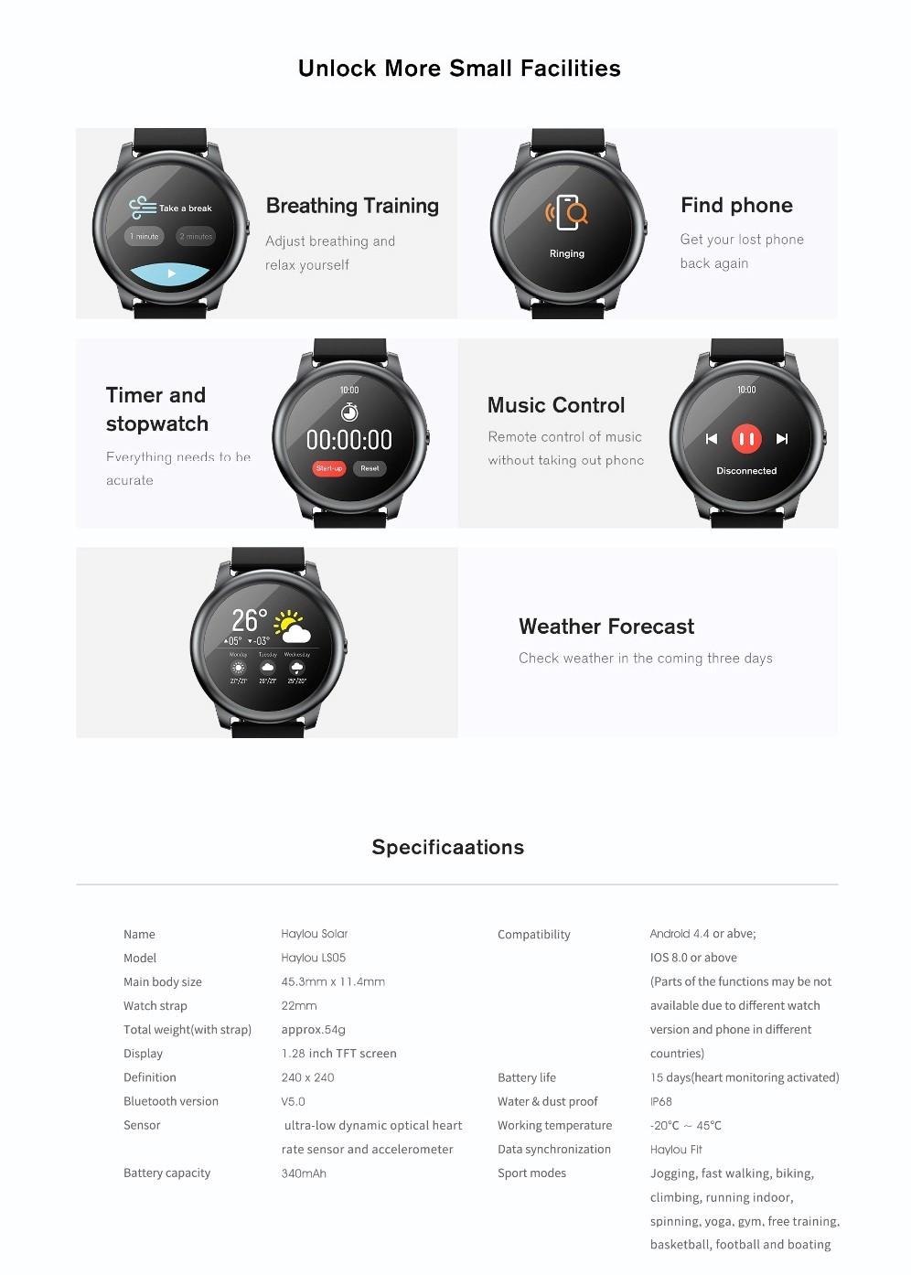 Haylou LS05 Solar Smartwatch 06 1