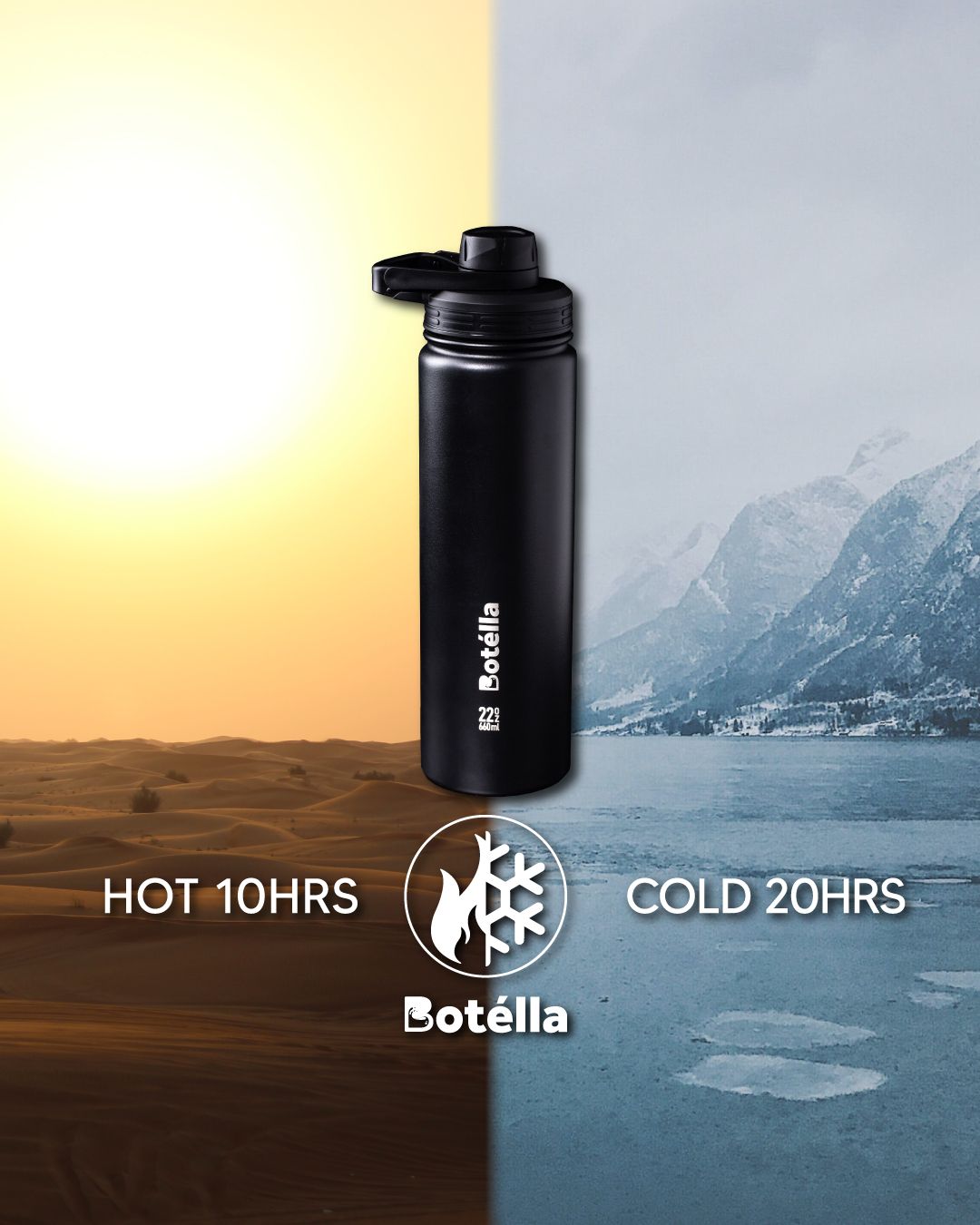 BOTELLA 32OZ Vacuum Flask with Lid