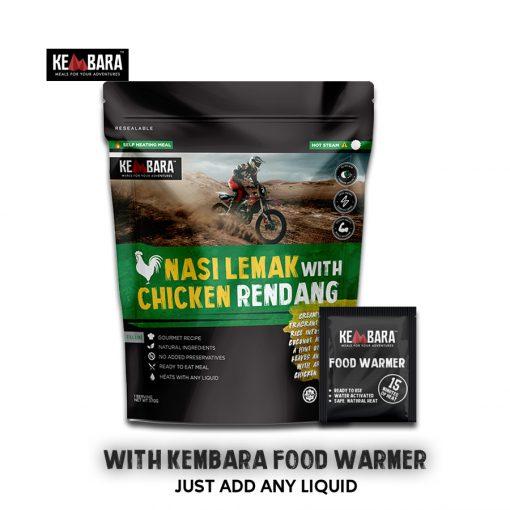 KEMBARA Nasi Lemak with Chicken Rendang 1