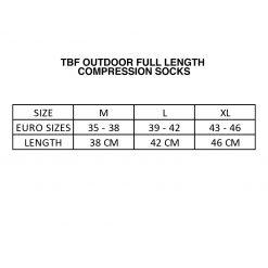 TBF Outdoor Full Length Compression Socks SC