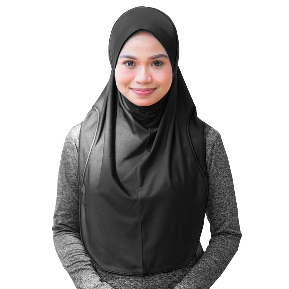 Outdoor Quick Dry Hijab, tudung, instant, scaf , scarves, scarf, aurat, cover, head, chest, alim, muslimah, naelofar, swimming, inner, cap, lycra