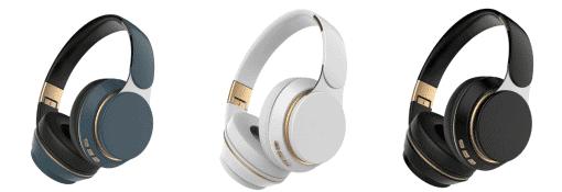 Baze Wireless Bluetooth Headphone White Pearl Jet Black Sapphire Blue