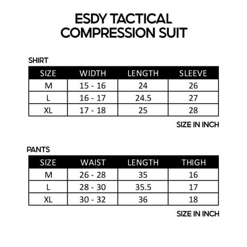 ESDY Tactical Compression Suit SZ