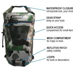 HYPERGEAR 20L Dry Pac Tough Backpack Camo