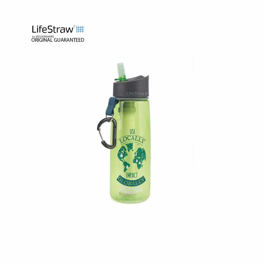 LIFESTRAW GO 2 Stage Version 1 Impact Water Bottle, botol air, water bottle, lighweight, sukan, camping,bpa, good cause, improve taste,