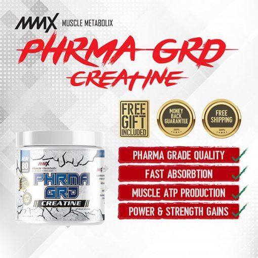 MMX PHRMA GRD Creatine Powder 80 Servings2