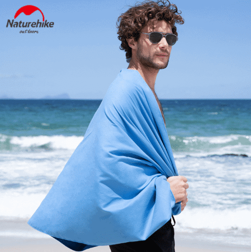 NATUREHIKE Compact Quick-Dry Towel features: Size: 100x300cm Materials: Polyester fiber and spandex Quick-drying towel Lightweight nonshrinking Small and foldable Suitable for bath, swimming, beach and fitness Package includes: 1xNATUREHIKE Compact Quick-Dry Towel