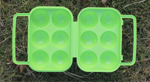 6 PCS Egg Container with Handle, hiking, camping, outdoor, adventure, activity, eggs, container, egg holder
