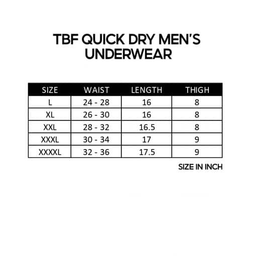 TBF Quick Dry Mens Underwear SZ