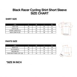 Black Racer Cycling Shirt SZ 1