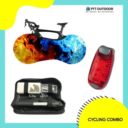 Cycling Combo, cycling, combo, bike, accessories, repair, maintain, multifunction, toolkit bag, LED blinker, bike cover