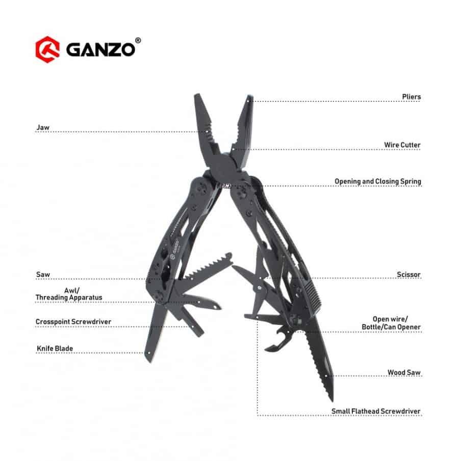 Ganzo G202-B Multitool Plier with Bits