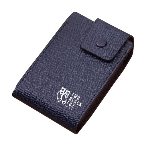 TBF Leather Wallet with Card Holder Dark Blue