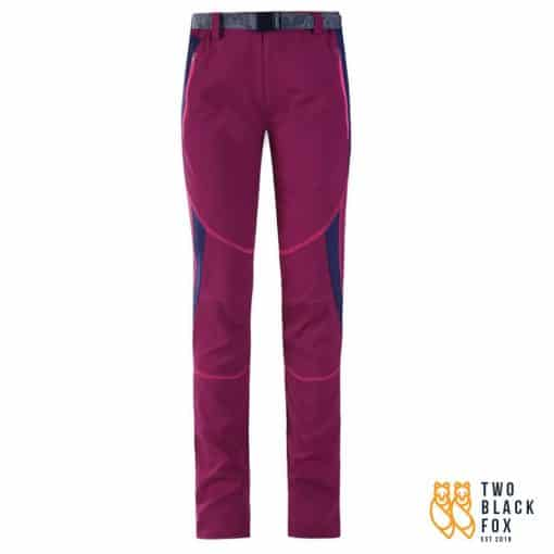 TBF Outdoor Female Hiking Pants Red Wine