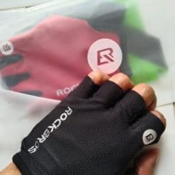 Locke Brothers Cycling Gloves Half finger Gloves Men and Women Non slip Breathable Mountain Bike Riding Equipment Bicycle Gloves4