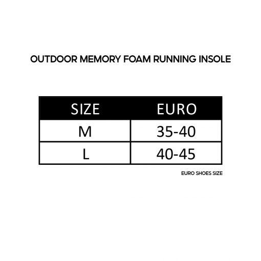 Outdoor Memory foam running insole