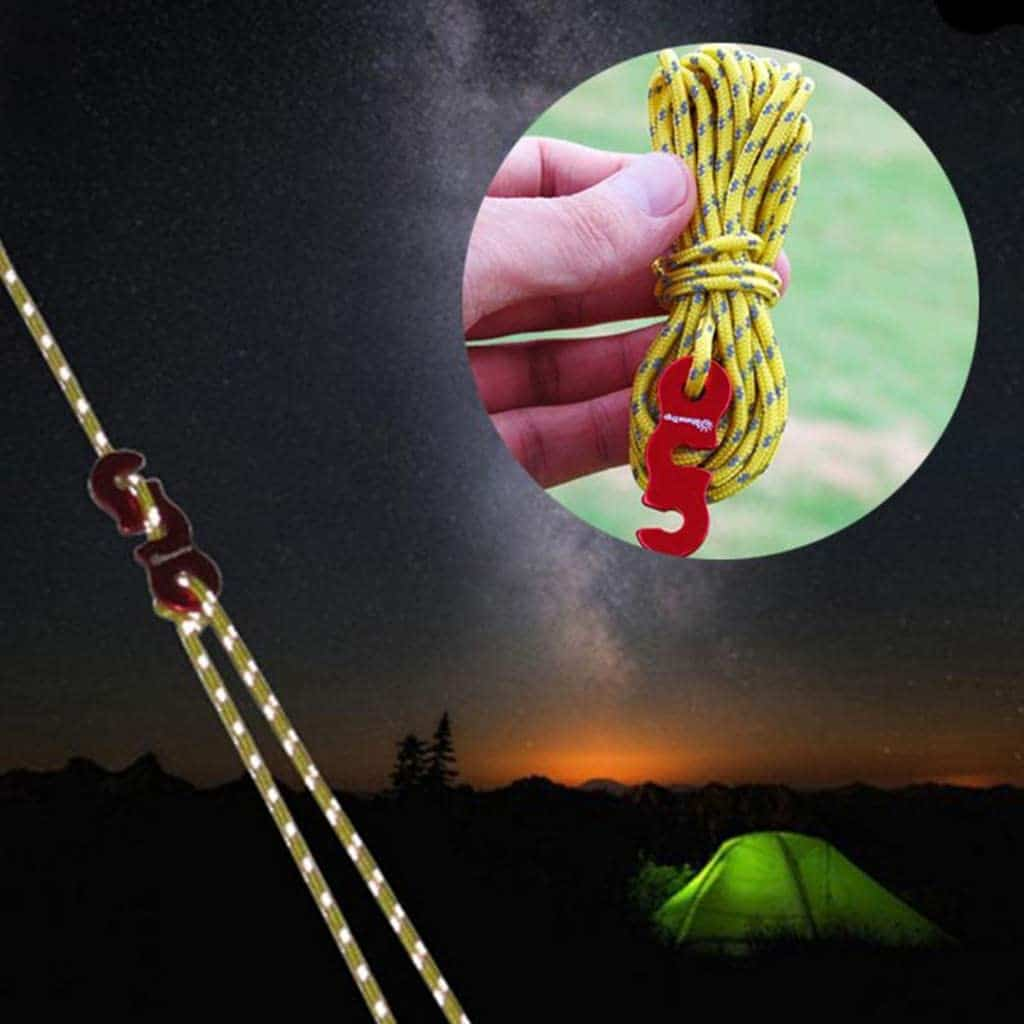 Reflective Fly Sheet Tent Rope Set, nylon cord, cotton rope, tent pole shock cord replacement, tent bungee cord, tent pole shock cord, tent pole elastic, tent pole cord, tent rope, camping tent rope