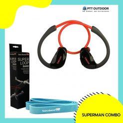 Superman Combo, superman, combo, men, active, loop band, bluetooth earphone, strength, core, training, lightweight