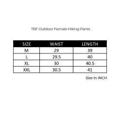 TBF Outdoor Female Hiking Pants