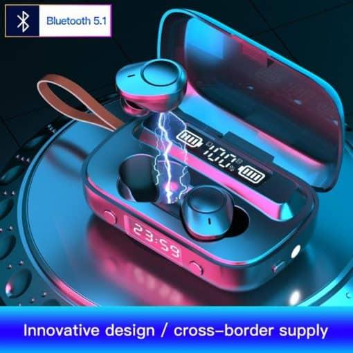 Azer Bluetooth Wireless Earphone Black3