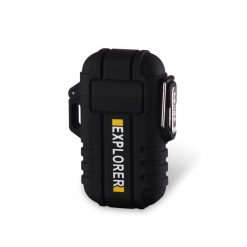 Explorer Waterproof Rechargeable Lighter Black