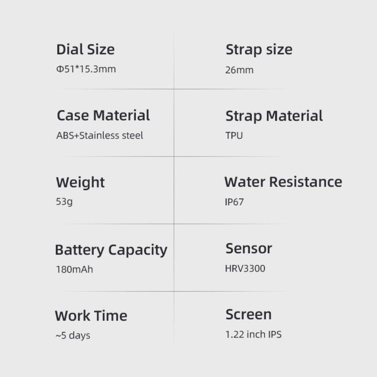 Spovan Vibe-HR Smartwatch (SW03), smartwatch, waterproof smartwatch, smartwatch malaysia, spovan malaysia, fitness watch