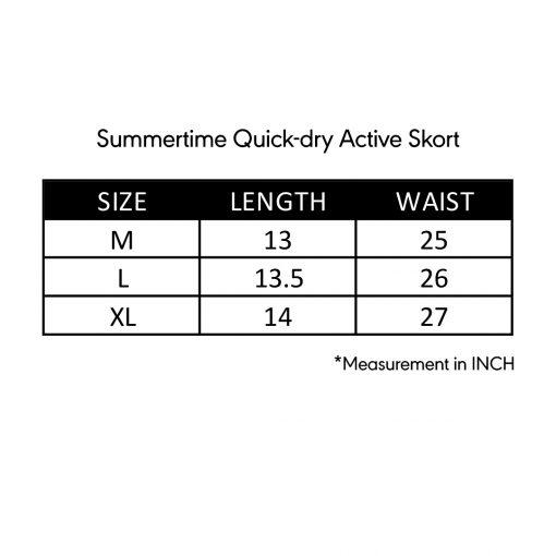 Summertime Quick dry Active Skort Size