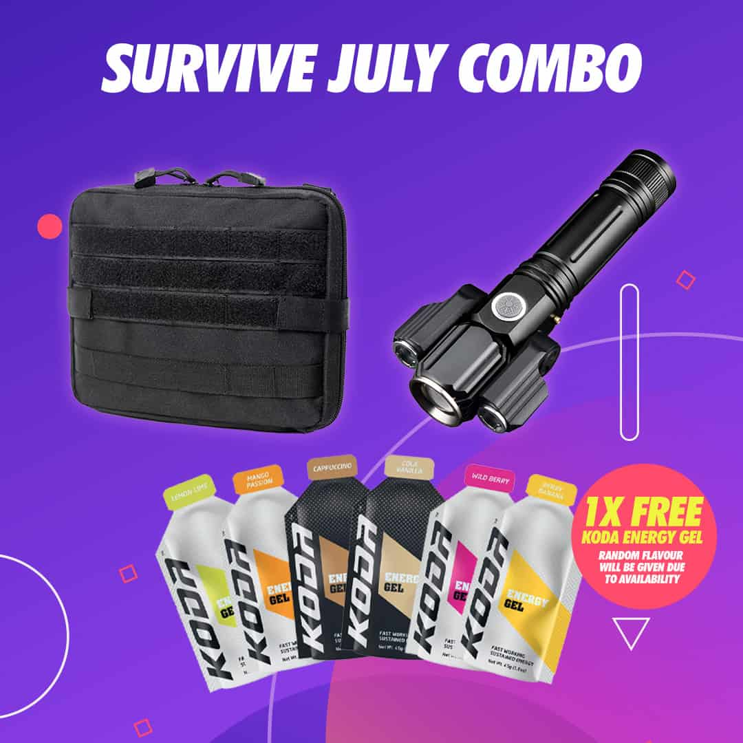Survive July Combo, combo, toolkit bag, tochlight, outdoor gear, survive