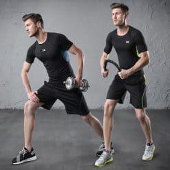 Xenoc Workout Compression Shirt Set Blue1 2