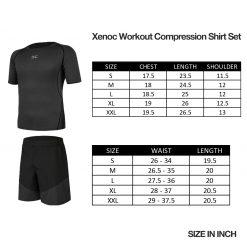 Xenoc Workout Compression Shirt Set Size
